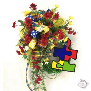 DIY Autism Awareness Wreath by Southern Charm Wreaths