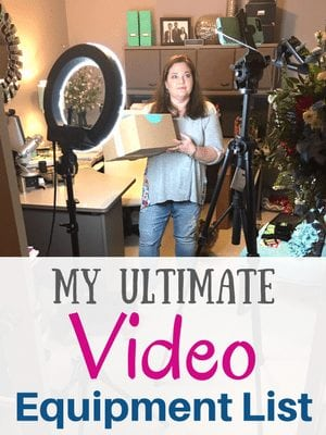 Ultimate Facebook Live Video Equipment List by Southern Charm Wreaths