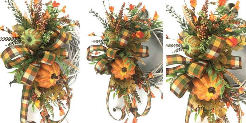 Fall farmhouse wreath for door