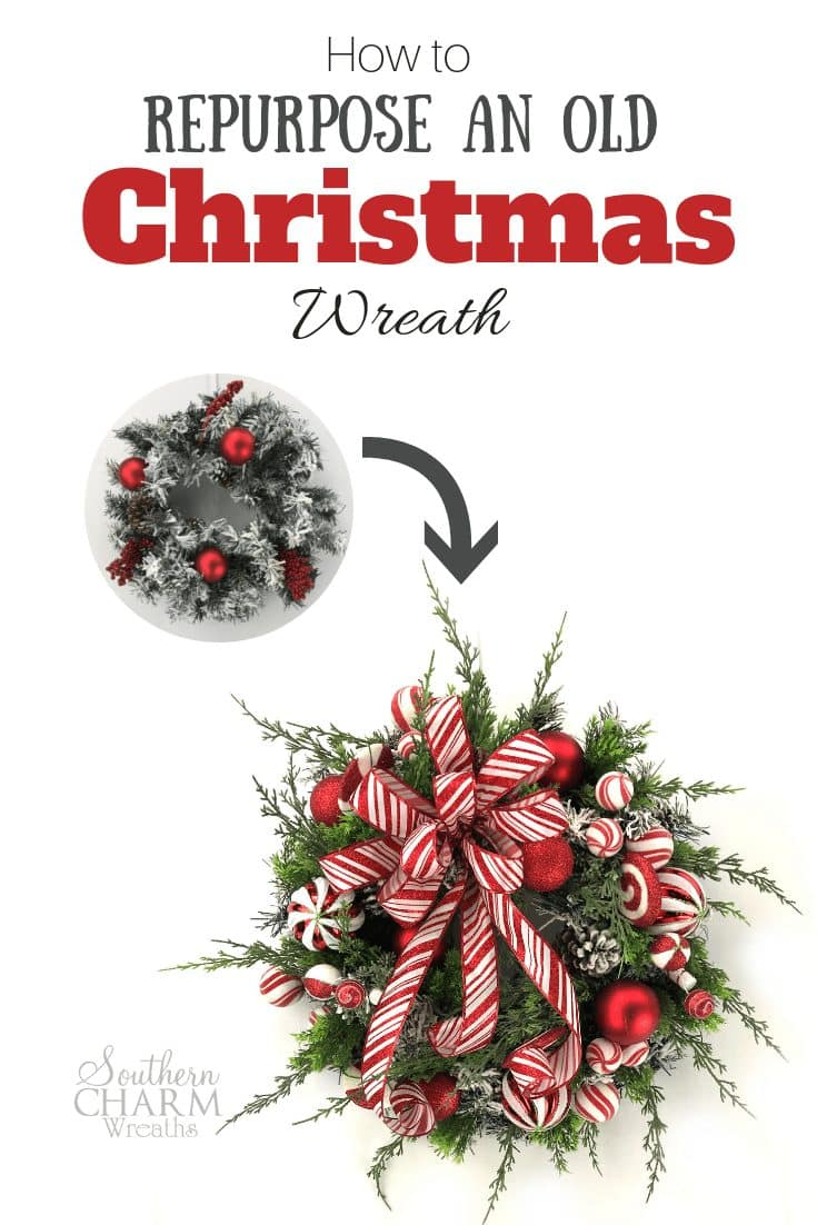 How to Repurpose an Old Christmas Wreath
