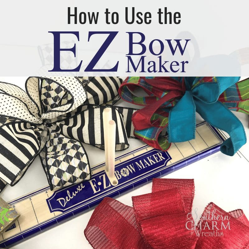 How to use the EZ Bow Maker to make bows for Holiday Decor