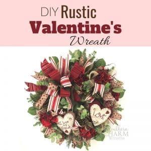 DIY Rustic Valentine's Day Wreath for Front Door