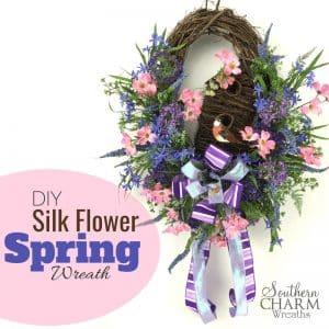 diy-Silk-Flower-spring-birdhouse-wreath