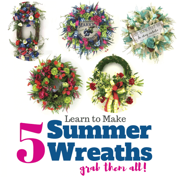 how to make summer wreaths, how to make deco mesh summer wreaths