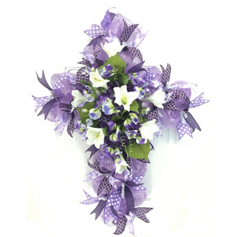 deco mesh cross wreath ebook