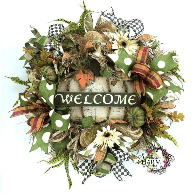 fall deco mesh wreath ebook recipe