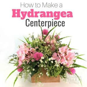 How to make a hydrangea centerpiece using silk flowers.