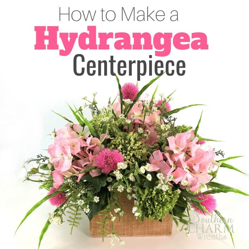 How to make a hydrangea centerpiece using silk flowers.