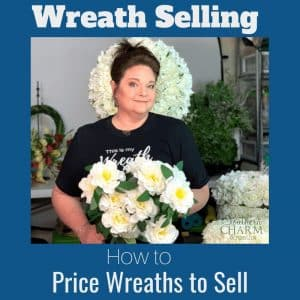 How to price wreaths for selling.