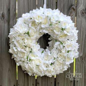 DIY Video Quick Easy Silk Flower Rose Wreath