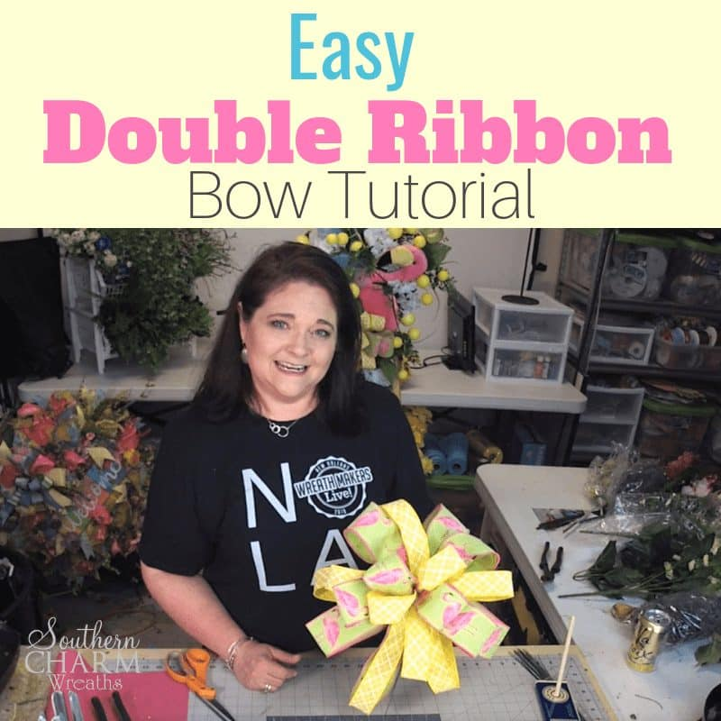 How to make a double ribbon summer bow using the EZ bow Maker.