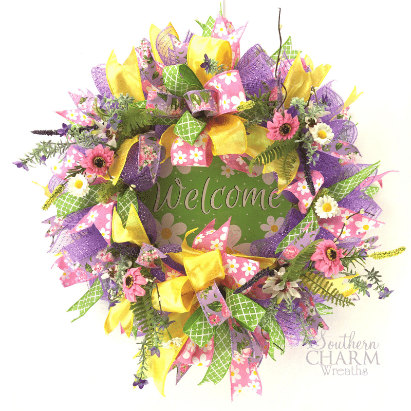 Burlap Wreath Monogram Wreath Cotton Wreath Summer Wreath Spring Wreath Full Cotton and Olive Branch Wreath Southern Wreath