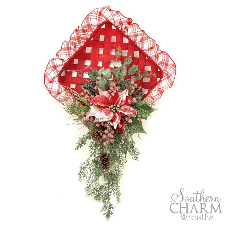 tobacco basket christmas wreath