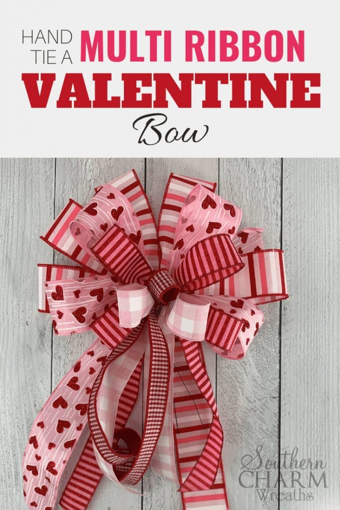How to Make a Valentines Bow with Multiple Ribbons by Southern Charm Wreath