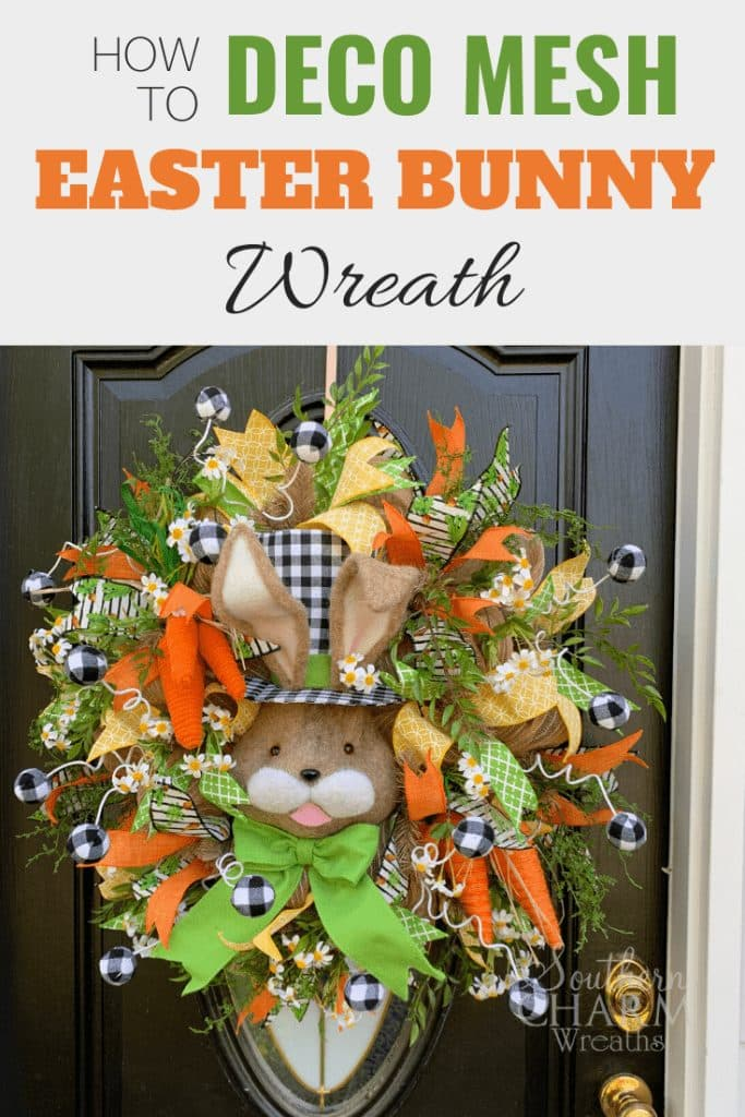 How To Make An Easter Bunny Deco Mesh Wreath Southern Charm Wreaths