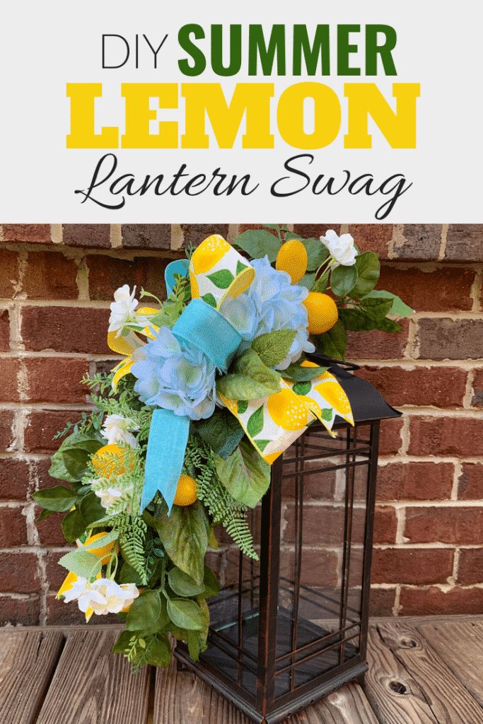 How to Lemon and Blue Hydrangea Lantern Swag for home Decor