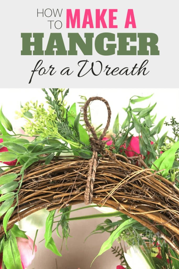 How to Make a Hanger for a Wreath - grapevine wreath with wire hanger