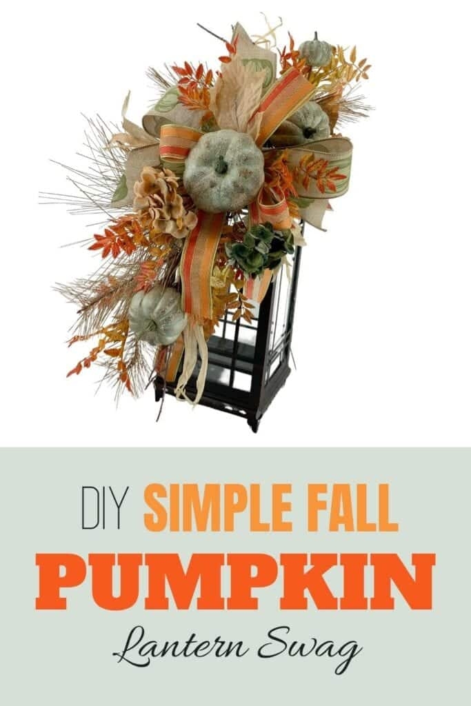 DIY Simple Fall Pumpkin Lantern Swag