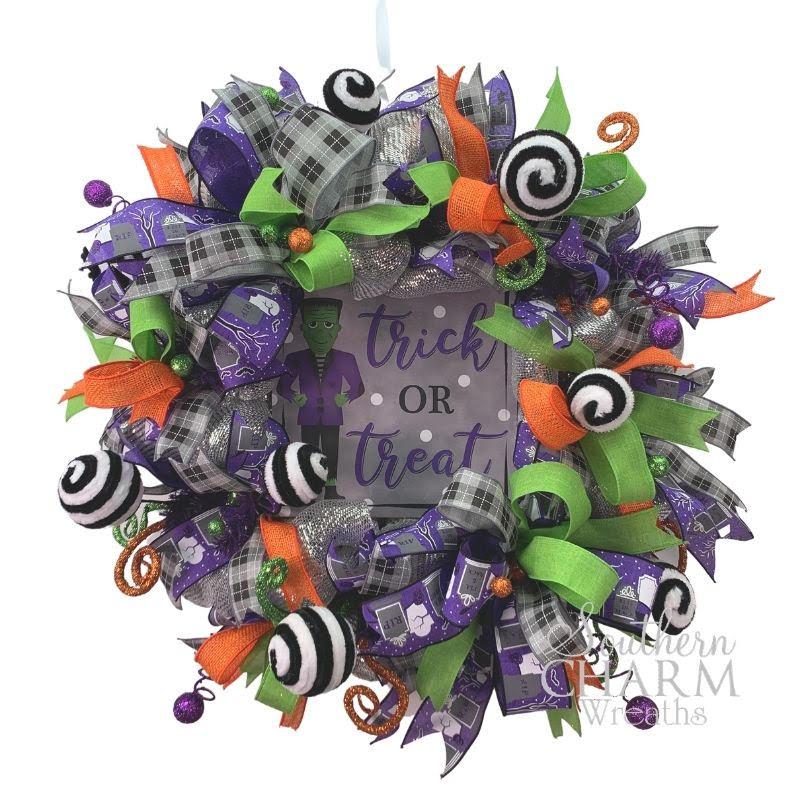 DIY Halloween deco mesh wreath