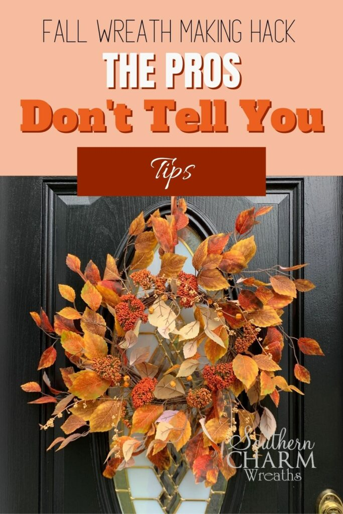 Front door featuring a fall wreath made with tips and tricks