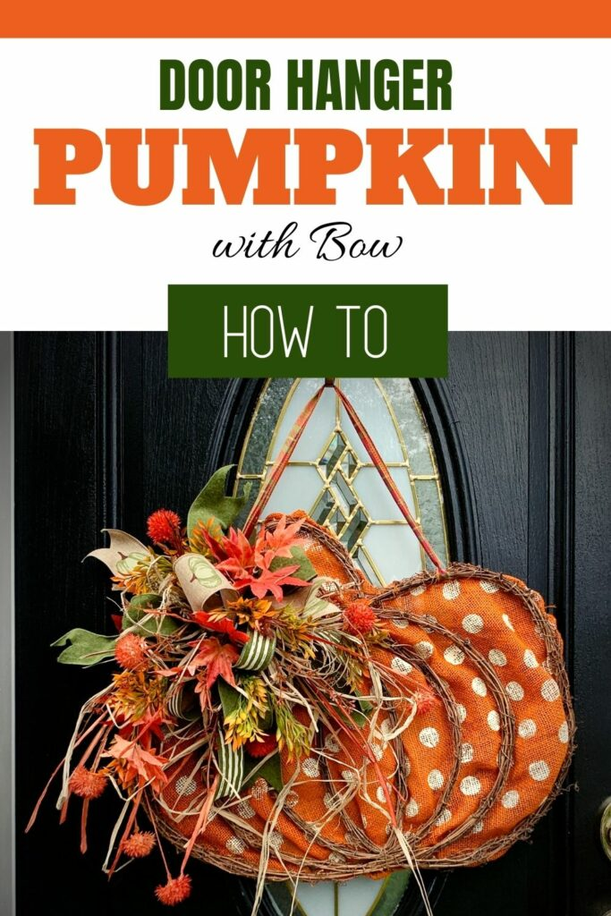 how to make a door hanger pumpkin with a bow
