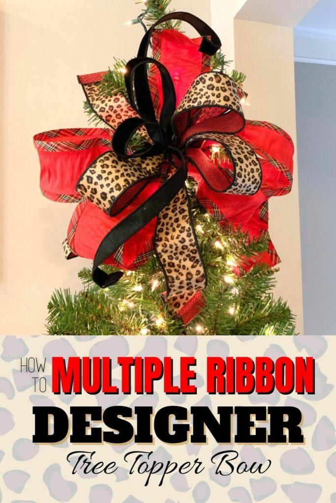 """""""Multiple Ribbon Designer Tree Topper Bow"""""""