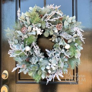 Winter wreath with pine greenery