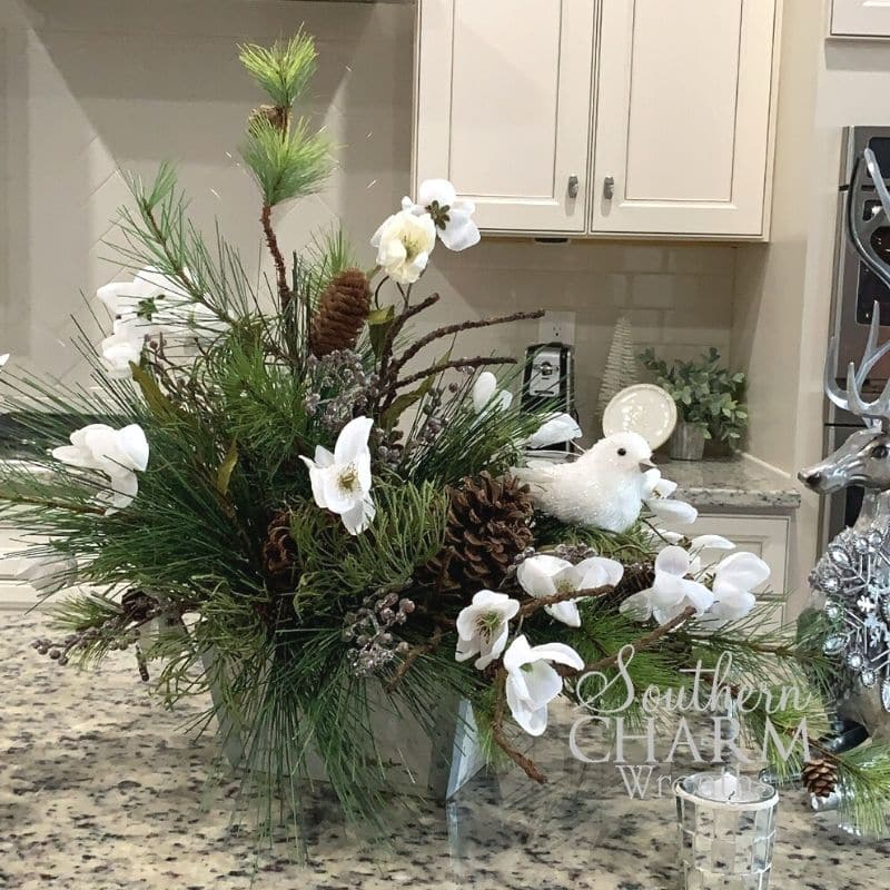 How to make a Winter Floral Arrangement by Southern Charm Wreaths