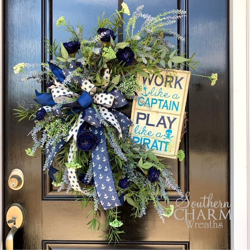 DIY Lake Inspired Grapevine Wreath For Your Door