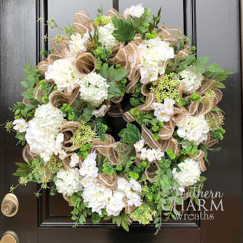 DIY Year Round Wreath On A Front Door