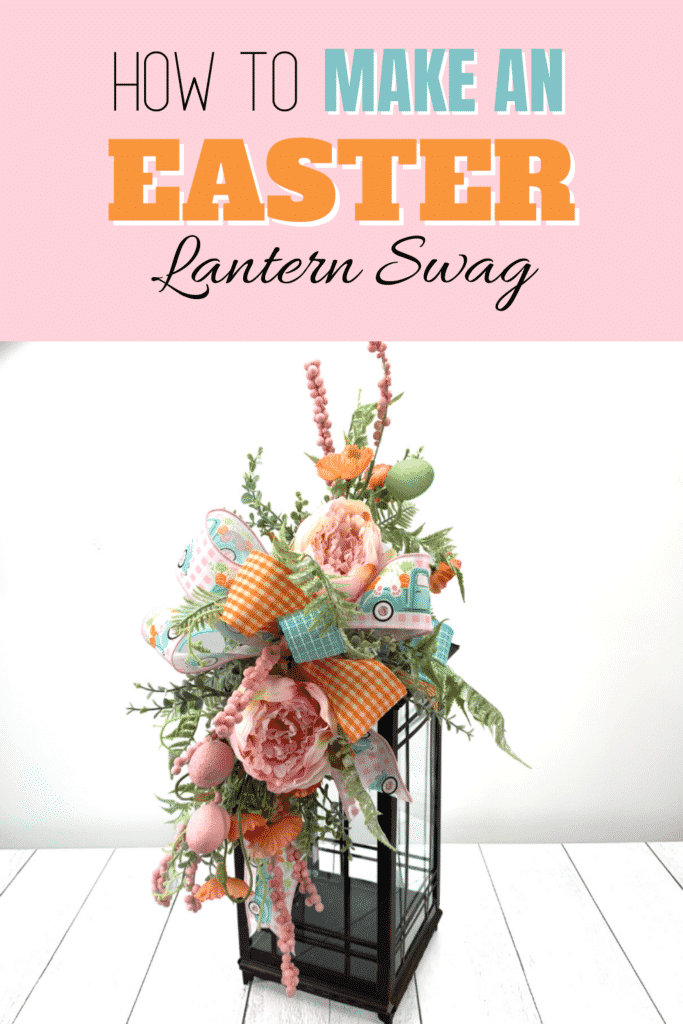 How to make a Lantern Swag for Easter by Julie Siomacco of Southern Charm Wreaths