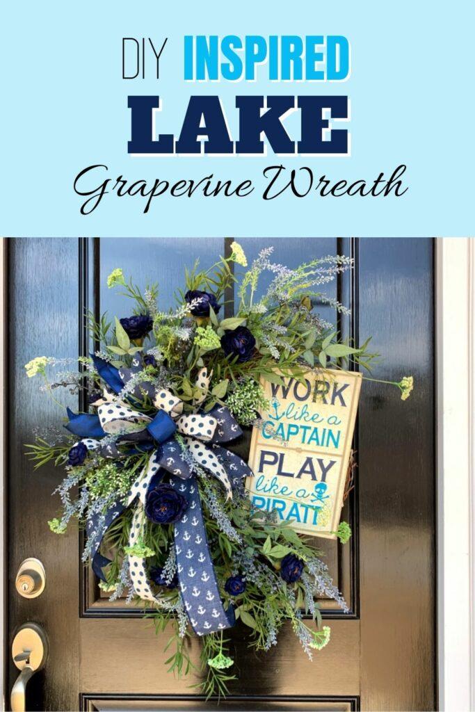 DIY Inspired Lake Grapevine Wreath