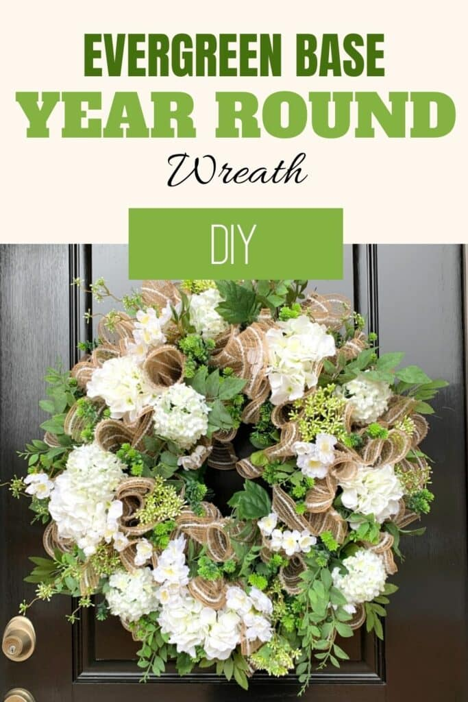 Evergreen base Year Round Wreath DIY