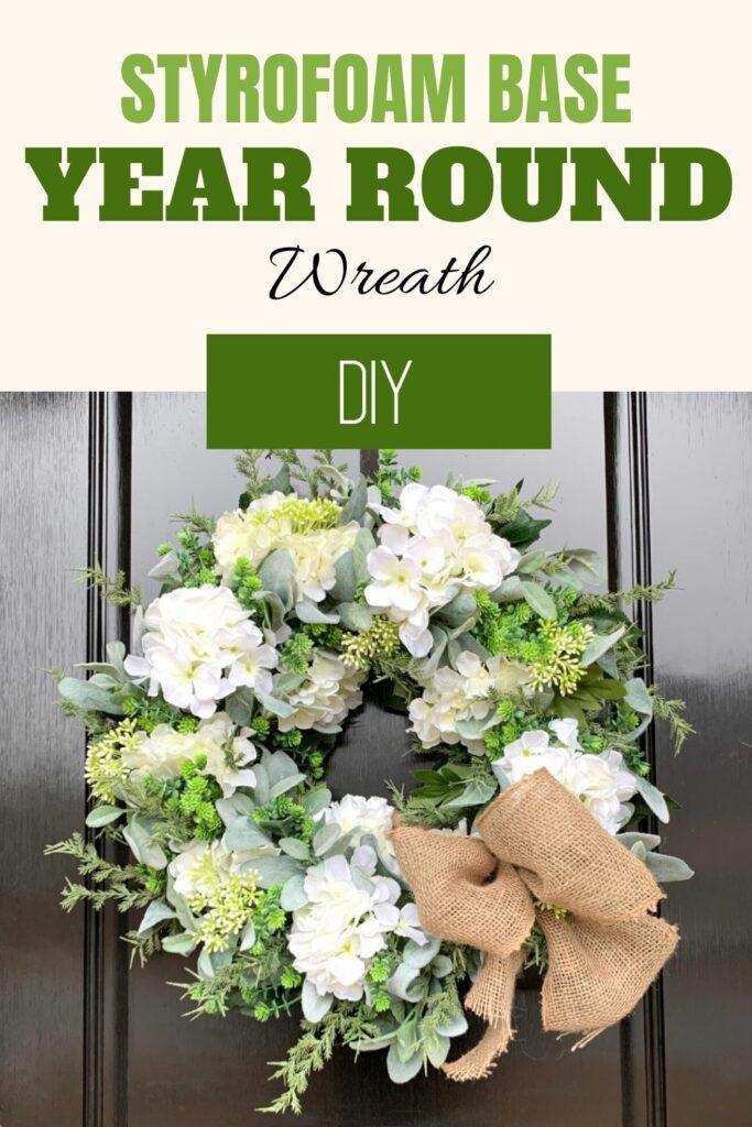 Styrofoam Base Year Round Wreath DIY
