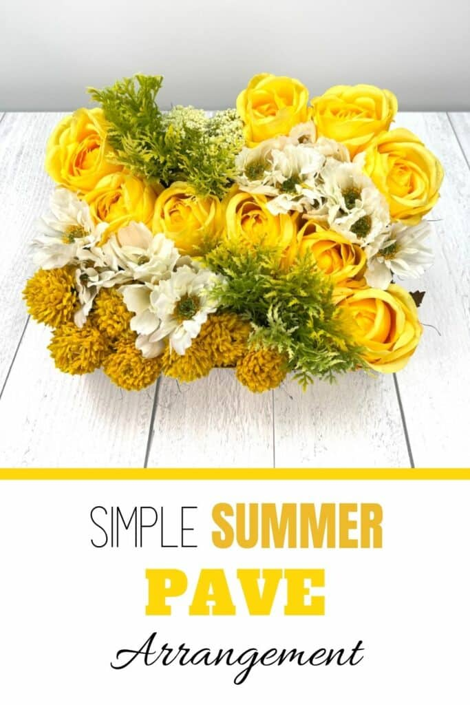simple summer flower decor made with yellow and white flowers