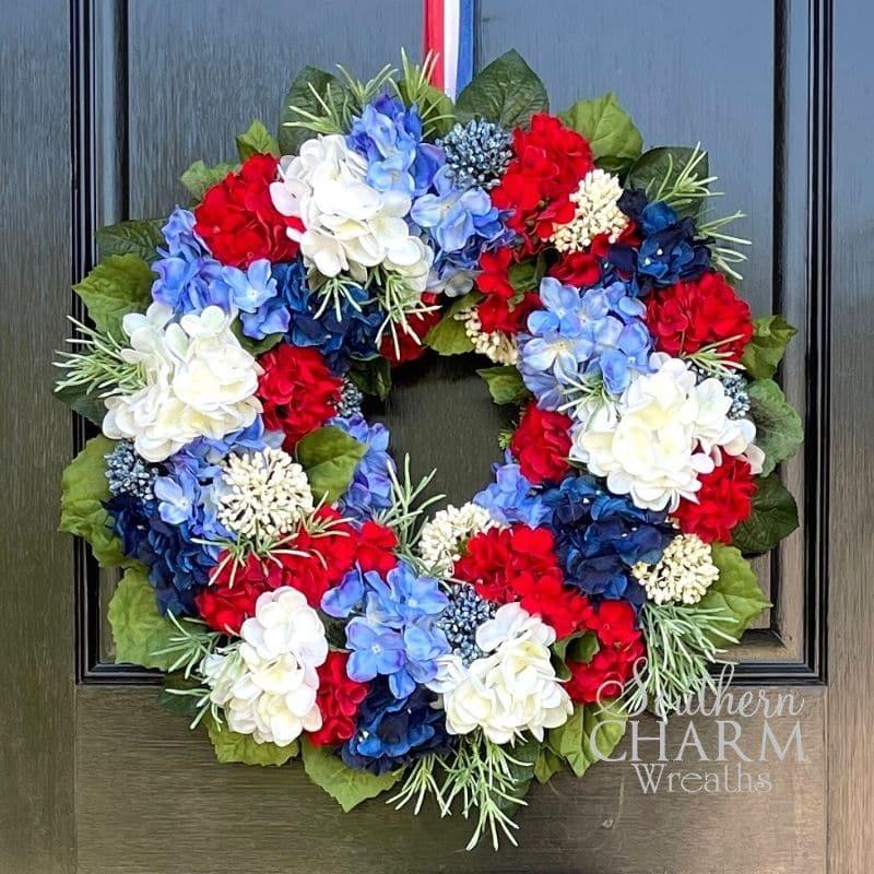 Patriotic Screen Door Wreath