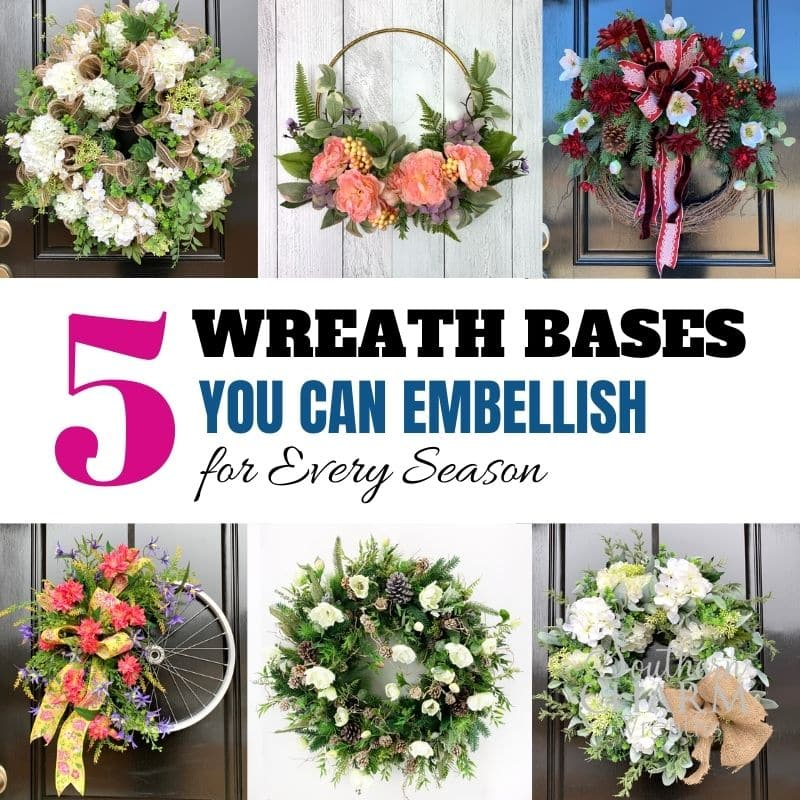 5 Wreath Bases you can embellish for every season