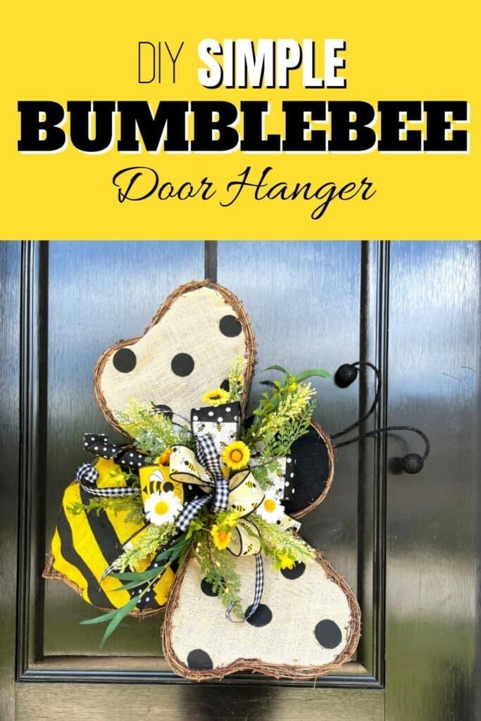 DIY Simple Bumblebee Door Hanger