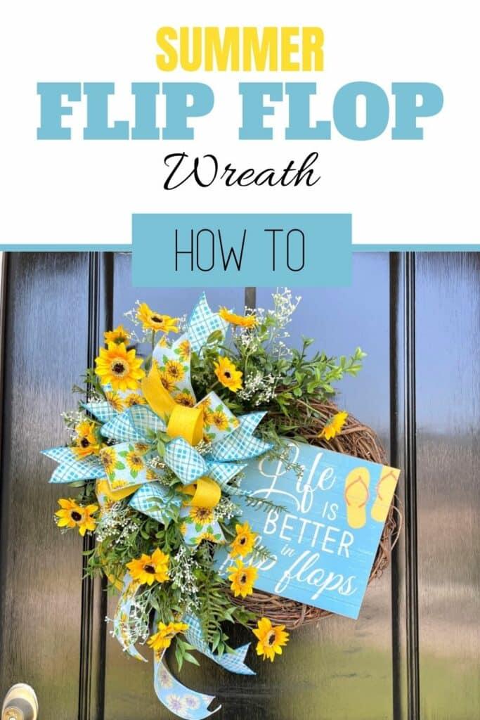 Summer Flip Flop Wreath How To