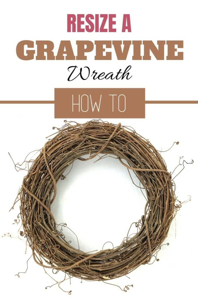 How to Resize a Grapevine Wreath