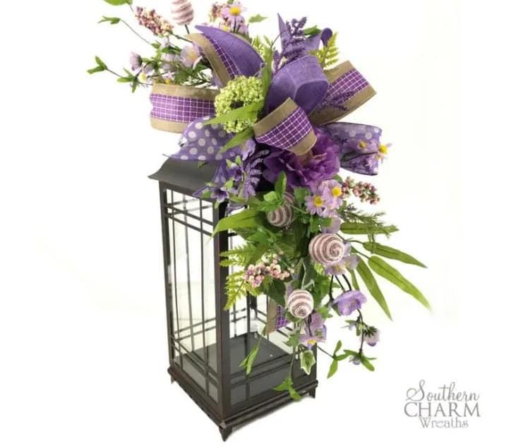 Easter Lantern Flower Arrangement