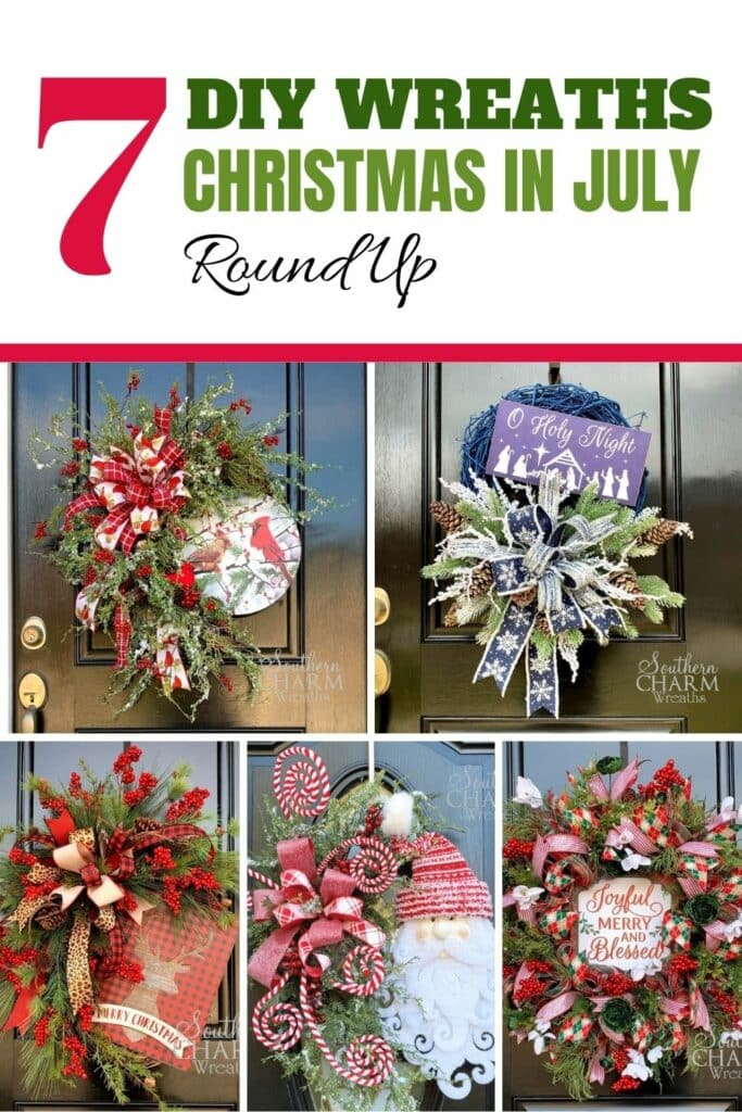 7 DIY Wreaths Christmas In July Round Up