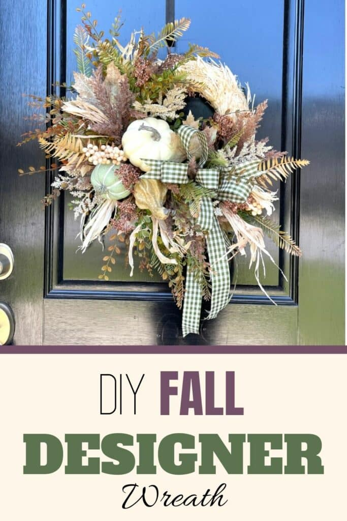 DIY Fall Designer Wreath