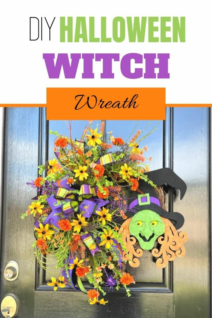 How to make a Halloween witch wreath